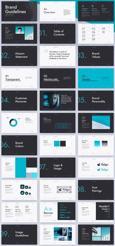 Made for Adobe Illustrator and Sketch, this brand guidelines template is well designed and offers a modern and minimalist look. #graphicdesign #branding
