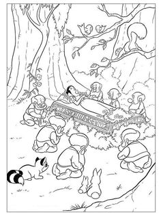 Coloring page about Snow White Disney movie. Nice drawing of Snow White dead. Coloring page for all the girls who love Disney movies. Snow White Coloring Pages, Cool Coloring Pages, Cartoon Coloring Pages, Coloring Pages To Print, Adult Coloring Pages, Disney Princess Coloring Pages, Disney Princess Colors, Disney Princess Snow White, Disney Colors