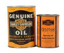 Harley-Davidson Oil Cans.