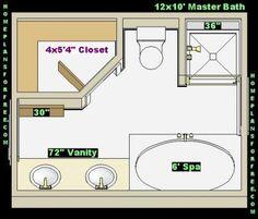 Best 13 X 12 Bathroom Design Free 12X12 Master Bathrooms 400 x 300