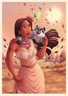 Pocahontas and Friends by DolphyDolphiana.deviantart.com on @deviantART