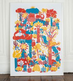 Agathe Demois | affiche à jouer sérigraphie // hand screen printed play poster | @Rachel Winslow lulu