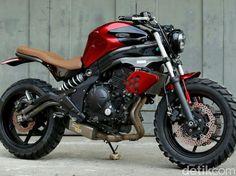 Dirt Head, Kawasaki ER-6n ala Scrambler produksi bengkel modifikasi Baru Motor Sport (BMS)