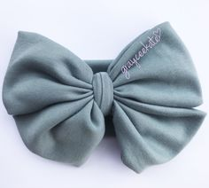 Baby headband, turban, big bow, messy bow