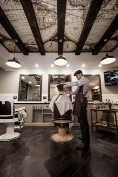 Daniel Malik | Design Portfolio Interior Design Of Benicky & Sons traditional Barber shop in Sydney, Australia