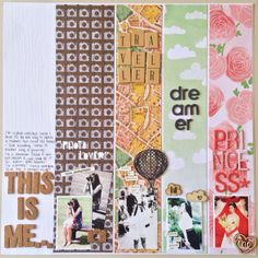 Something more about me by katrina0590 at @Studio_Calico  Sweet and simple design.  Love how each photo has it's own, very different column.