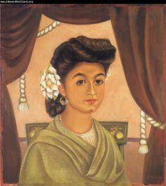 """KAHLO, Frida: """"Portrait of Lupita Morillo Safa"""" (1944)"""