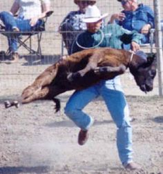fucking dirt bag rodeo prick - distracts from his tiny penis.