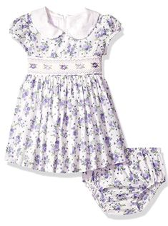 Sleeveless cute baby girl dress with peter pan collar and smocking trim at waist. Great kids clothes idea for girl's fashionable baby clothes. Baby Girl Dress Patterns, Little Girl Dresses, Girls Dresses, Baby Clothes Australia, Smocked Baby Clothes, Baby Frocks Designs, Frock Design, Baby Girl Fashion, Collar Dress
