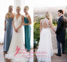 2016 Vintage Wedding Dresses Criss Cross Bare Back A-Line Deep V-Neck Lace Court Train Beach Boho Garden Country Destination Bridal Gowns Online with $101.31/Piece on Magicdress2011's Store | DHgate.com