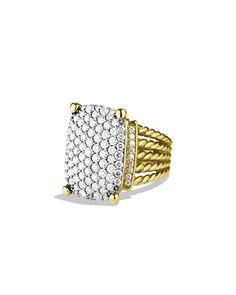 P4065 David Yurman Wheaton Ring with Diamonds in Gold