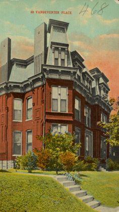 Ashley D. and Samuel S. Scott Residence. 68 Vandeventer Place, St. Louis, MO. Built 1886.