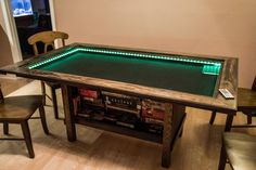 Post with 66 votes and 8388 views. Tagged with Creativity; Shared by Gaming table Board Game Storage, Board Game Table, Board Games, Game Tables, Gaming Table Diy, Diy Table, Gaming Setup, Diy Party Games, Diy Games