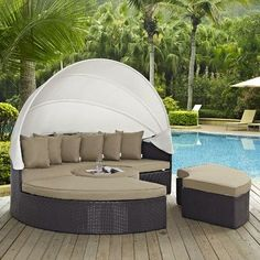 Modway Convene Daybed with Cushion Fabric: