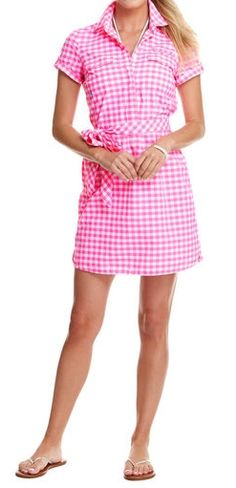 Medium Gingham Harbor Shirt Dress
