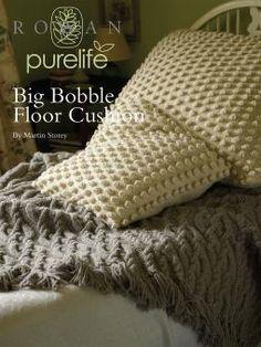 Big Bobble Floor Cushion By Martin Storey - Free Knitted Pattern With Website Registration - (knitrowan)