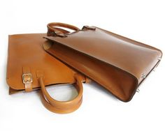 Handmade Leather Tote in Light Brown-SR