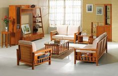 Attirant Modern Wooden Sofa Furniture Sets Designs For Small Living Room