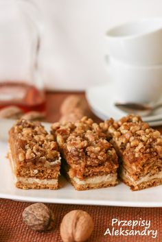 Przepisy Aleksandry: CIASTO SNICKERS Krispie Treats, Rice Krispies, Banana Bread, Vegan Recipes, Muffin, Food And Drink, Breakfast, Sweet, Coffee