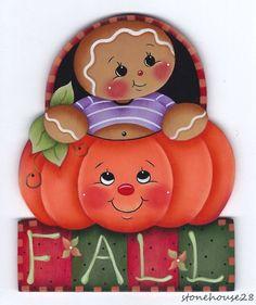 """HP GINGERBREAD """"Fall"""" Pumpkin MAGNET"""