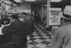 The civil rights movement - Black students sit in at a whites-only lunch counter. Nashville, Tennessee, February Taffi via Jennifer Bauman Kings & Queens, Famous Photography, Civil Rights Movement, African Diaspora, Social Change, Mo S, Us History, Before Us, African American History