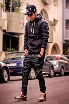 All black everyday [ UpUrGame.com ] #guy #fashion #game
