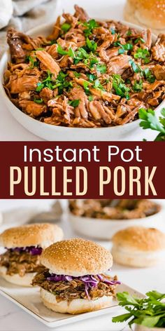 Cook Perfect Pulled Pork in the Instant Pot - in no time you'll have tender bbq pork to pile on your plate, sandwiches, and so much more! You just need spices from your pantry, your favorite barbecue sauce, and a pressure cooker to make this picnic classic! You can serve it on salads, rolls, tacos - just get creative with this naturally gluten free main dish. Bbq Pulled Pork Recipe, Making Pulled Pork, Bbq Pork, Gluten Free Recipes For Dinner, Dinner Recipes, Pressure Cooker Recipes, Slow Cooker, Creamy Potato Salad, Thing 1