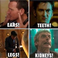 The Doctor's Reactions to his new bodies.