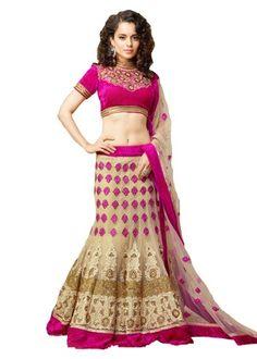 Unstitched Lehenga Pink Choli. http://www.fashionpuram.com/womens-lehengas/