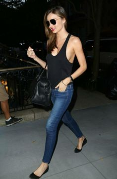 Miranda Kerr cannot live without Givenchy and JBrand  dress up like her!  www.,italist.com