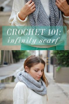 how to crochet an infinity scarf {free easy pattern} by iffoundmake.blogspot.com