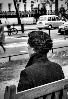 Wavy hair, upturned collar and brilliant mind..Sherlock