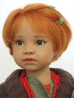 Ooak *One of a Kind* Redhead Angela Sutter Artist Doll *Kim*  w/ McCauley Stand