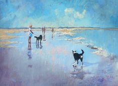 Border Collie Illustration - or Print - Border Collie Print - Dog Portrait - Dog Lover Gift - Pet Wall Art Seascape Art, Abstract Art, Dog Paintings, Watercolor Paintings, Border Collie Art, Beach Scene Painting, Beach Frame, Beach Scenes, Dog Art