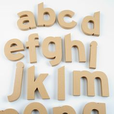 Shop Kids' Banners & Hanging Décor: Kids Vintage Craft Paper Patterened Letters Wall Decor.  It's décor you can decorate.  Sturdy, three-dimensional kraft paper letters are ideal for art projects, crafts or just for display.