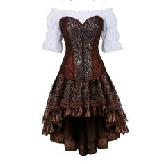 Steampunk Rock, Costume Steampunk, Steampunk Corset Dress, Style Steampunk, Plus Size Cosplay, Plus Size Costume, Corset En Cuir, Leather Corset, Party Rock