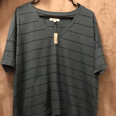 Opus V-Neck Pocket Tee in Stripe Never been worn // Tags still attached Madewell Tops Tees - Short Sleeve