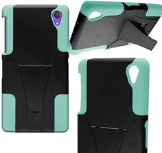 "myLife Protective Slim Armor Kickstand Case for the Sony Xperia Z2 {Pistachio Green and Black ""Smooth Deluxe Finish"" Two Piece NEO Hybrid with Rubber Bumper Shell} myLife Brand Products http://www.amazon.com/dp/B00PJ3OUPE/ref=cm_sw_r_pi_dp_aL3Aub0KT0FAA"