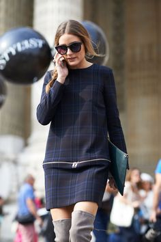 Street Style Paris Fashion Week - Paris Spring 2014 Street Style Photos - ELLE Can Olivia Palermo be any more chic?