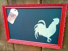 Rooster Chalkboard -- from Country Living Fair 2011