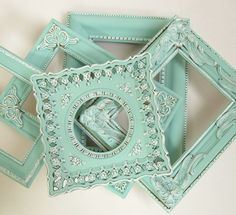 Shabby Chic Frames Pastel Mint Green by MountainCoveAntiques, $76.00