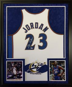 0e1ca48df Michael Jordan Framed Jersey Signed UDA Autographed UpperDeck COA  Washington ...  michaeljordan