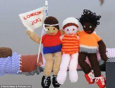 Fans - Olympic yarn bombing