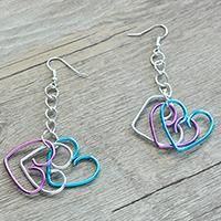 Easy Pandahall DIY Project - How to Make a Pair of Wire Wrapped Heart Earrings for Beginners
