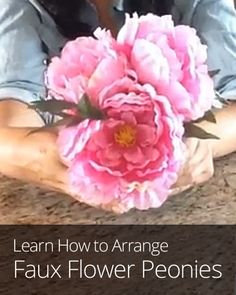 Create a DIY fake flower arrangement with elegance and sparkle, that is cheap and easy to make!