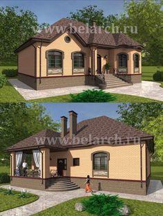 Tiny House Plans, House Floor Plans, Classic House Design, Dream House Exterior, Small Garden Design, Paint Colors For Home, Home Design Plans, Cottage Homes, Black House