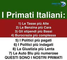il popolo del blog,: primati italiani da vergogna planetaria
