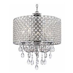 Chandeliers and Pendants for Home Improvement: Ashford Classics Lighting Crystal Chrome Design ~ Chandeliers Inspiration