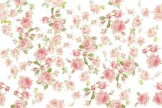 Saint Colette June Roses in peony pink on white fabric by lilyoake on Spoonflower - custom fabric