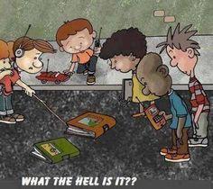 Hahaha. Laten we er voor zorgen dat onze kinderen nog weten wat (mooie) boeken zijn!